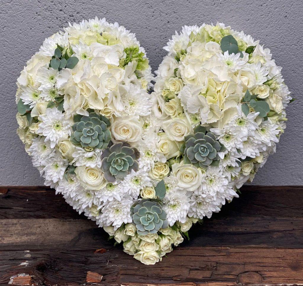 Hjerte i hvitt og gront 3